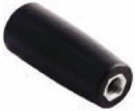Ручка-цилиндр для твердотопливного котла прямая М8 с внутр. резьбой (карболит, L-89, Ø27мм)