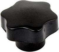Ручка-звездочка для твердотопливного котла M6 с внутр. резьбой (карболит, диаметр 50мм)