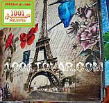 """Одинарный коврик с 3D печатью """"Париж"""" в ванную 80х50 см., фото 2"""