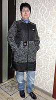 Куртка удлиненная весна-осень,трикотажные рукава