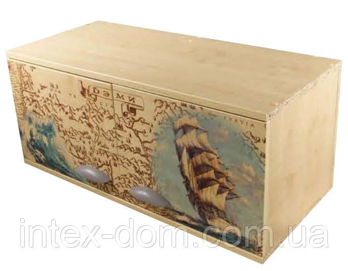 Навес междустоечный ДЭМИ под парту СУТ.14 (СМД-06), клен с рисунком (цветы, фрегат) купить в киеве и