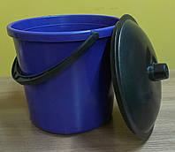 Ведро пластмассовое 7 л. с крышкой