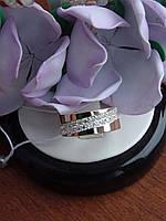 Серебряное кольцо с золотой пластинкой, фото 1