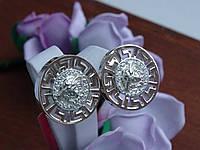 Новинка! Модні срібні сережки Versace (Версаче), фото 1