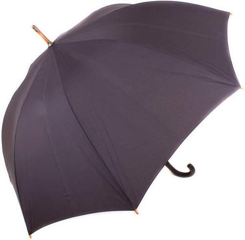 Мужской, полуавтоматический зонт-трость с большим куполом ZEST (ЗЕСТ) Z41650 чёрный
