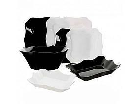 Сервиз обеденный стекло Luminarc 19 предметов Authentic Black White (Е6195)