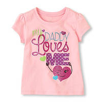 Детские футболки с принтом для девочек, мой папа любит меня