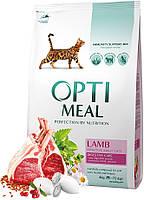 Optimeal Adult Cat Digestive Care для взрослых кошек с ягненком, 300 гр