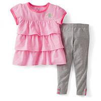 Детский набор туника-леггинсы розовый