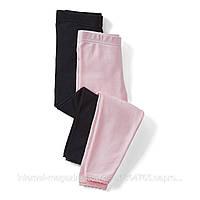 Леггинсы детские на девочку розово-черные