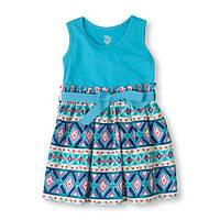 Детское платье на девочку голубое