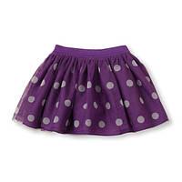 Юбка детская нарядная на девочку фиол.