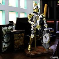 Аксессуар Рыцарь с часами из нержавеющей стали и латуни 60 см.