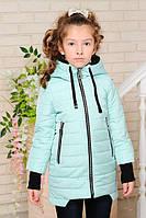 Детская демисезонная куртка «Вилена-2» для девочек 7-12 лет (коллекция 2018, р. 32-42 / 122-152 см) ТМ MANIFIK Минт