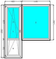 Балконный блок WDS 400, WDS 505 Киев (выход на балкон) недорого. Балконный блок ВДС Киев.