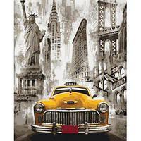 """Картина за номерами Міський пейзаж """"Таксі Нью-Йорка"""" KHO3506"""