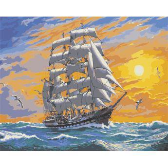 """Картина по номерам Морской пейзаж """"Хозяин морей"""" KHO2722"""