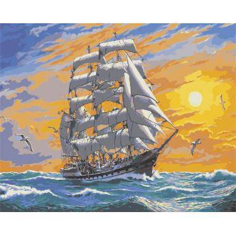 """Картина по номерам Морской пейзаж """"Хозяин морей"""" KHO2722, фото 2"""