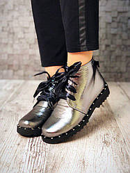 Ботинки, модные кожаные