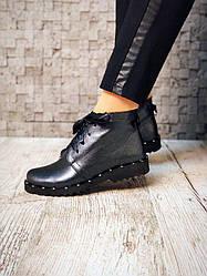 Ботинки кожаные с бантом