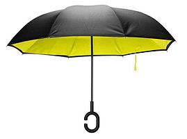 Зонтик антиветровой с обратным механизмом KCASA UB-1 (желтый)
