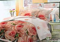 Полуторное постельное белье полиСАТИН 3D (поликоттон) 85139