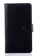 Кожаный чехол-книжка для Lenovo A536 черный