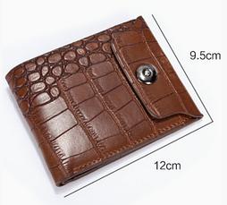 Кожаный мужской кошелек  коричневый, фото 2
