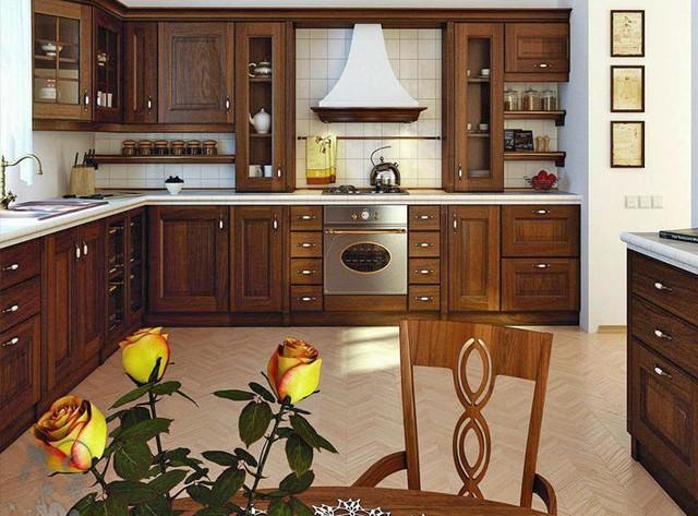 угловые кухни из дерева на заказ в киеве цена дизайн фото цена 7