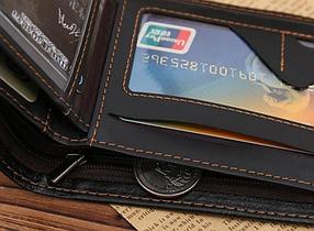 Кожаный мужской кошелек  черный, фото 3