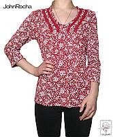 Блузка в цветочек JoHnRocha р. М 46 красная без пуговиц