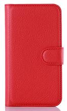 Кожаный чехол-книжка для Sony Xperia M2 Dual D2302 D2303 D2305 красный