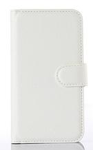Кожаный чехол-книжка для Sony Xperia M2 Dual D2302 D2303 D2305 белый