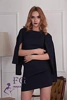 Черный костюм платье с пиджаком