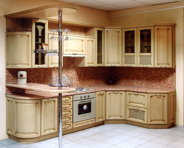 Кухні з дерева на замовлення в Києві, кухні з масива ясеня
