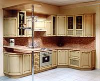 Кухні з дерева на замовлення в Києві, кухні з масива ясеня, фото 1
