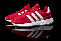 Мужские кроссовки Adidas Iniki красно – белые топ реплика