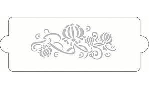 "Трафарет для декорирования 34,7х12,7 см ""Цветок"" Martellato"