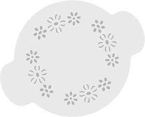 """Трафарет для декорирования 20 см """"Цветы"""" Martellato"""