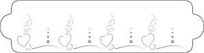 """Трафарет для декорирования 34х9 см """"Сердце"""" Martellato"""