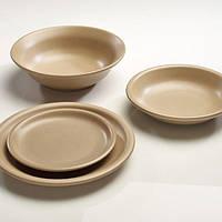 Тарелка глибокая 600 мл., 22 см. глинянный Dinner Service Moka, Regas