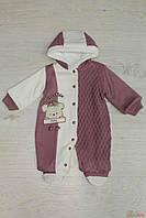 Комбинезон вязаный с капюшоном для девочки (62 см)  Bestido 2129000439462
