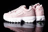 Кроссовки женские Fila Disruptor II розовые топ реплика