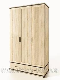 Шкаф Палермо 3ДШ 2020х1340х590мм дуб сонома Світ Меблів