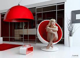 Дизайнерская лампа с внешним покрытием O70 см