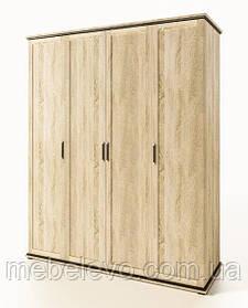 Палермо  шкаф 4Д 2220х1775х590мм дуб сонома   Світ Меблів
