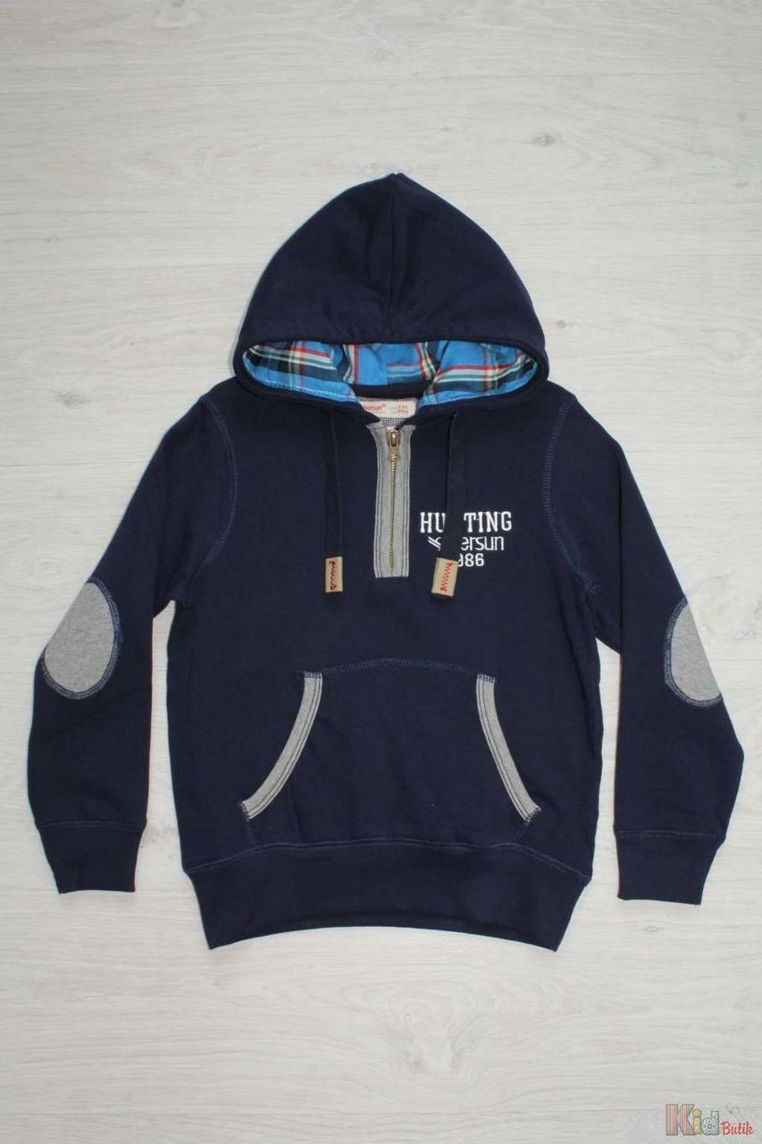 Худи синего цвета для мальчика. (158 см.) Silversun 2127000242198 -  KidButik. beff7fbc5d115