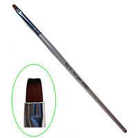 Кисть для геля с деревяной ручкой овал №4 MART