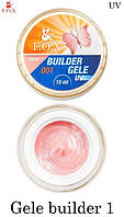 Гель-желе F. O. X № 1 теплий рожевий (Gele Builder Gel №1) 5мл