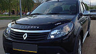 Дефлектор капота (мухобойка) Рено Сандеро (Renault Sandero) 2008-2013 г